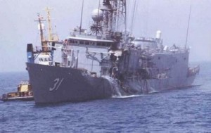 USS Stark after Exocet hit